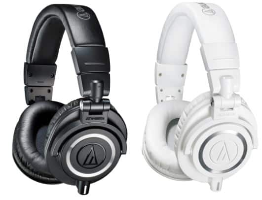 Audio Technica ATH M50X black white