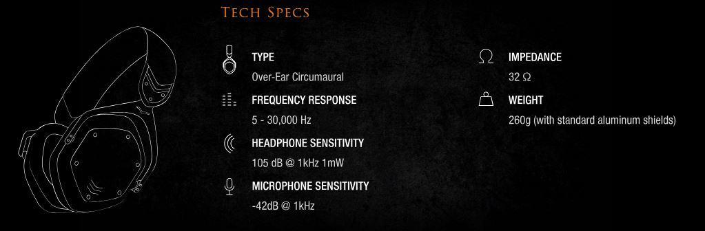 Image result for v-moda crossfade lp2 dj headphone (black) tech specs