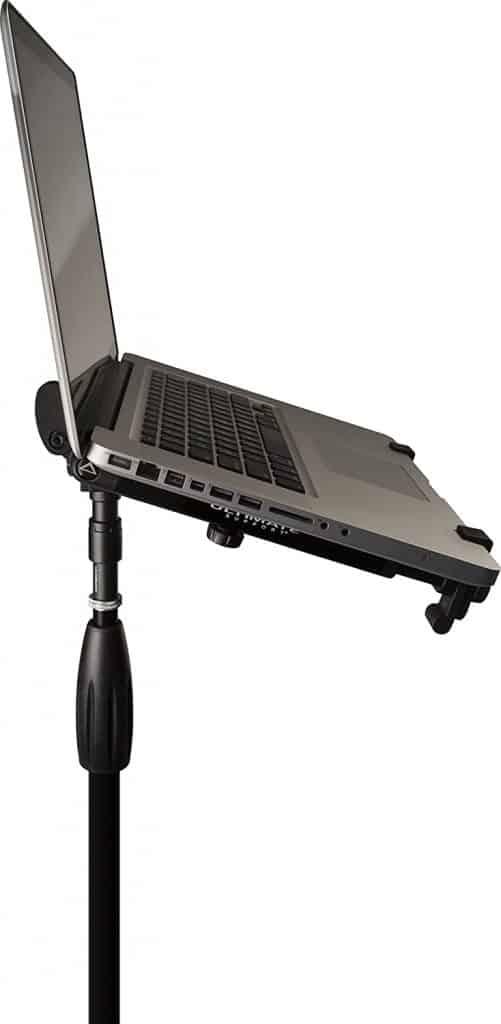 Adjustable laptop stand for djs