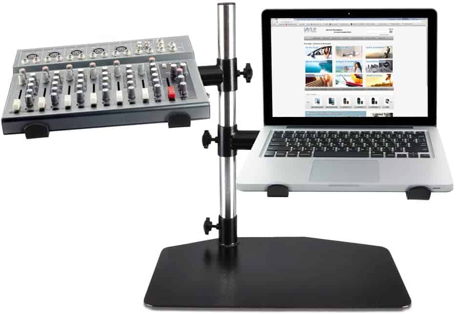 ergonomic laptop stand for djs