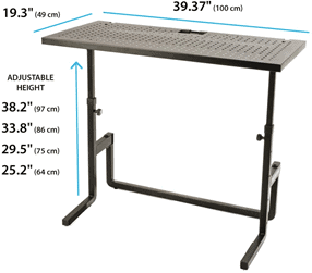 DJ table dimensions
