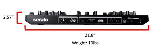 Pioneer DDJ-SR Controller Dimensions
