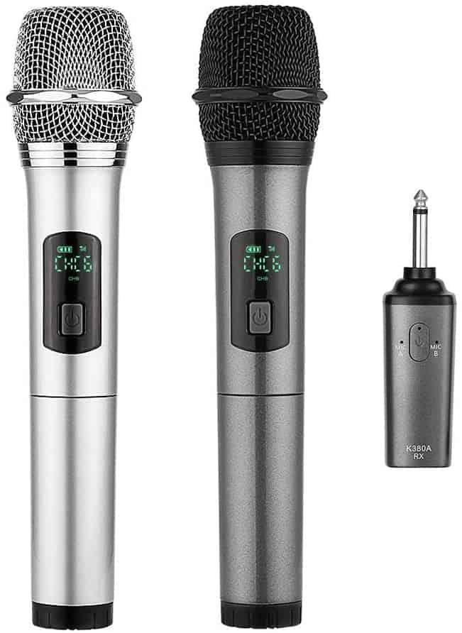 ARCHEER Dual Bluetooth Wireless Microphone