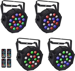 LaluceNatz 18x1W RGB LED Par Lights