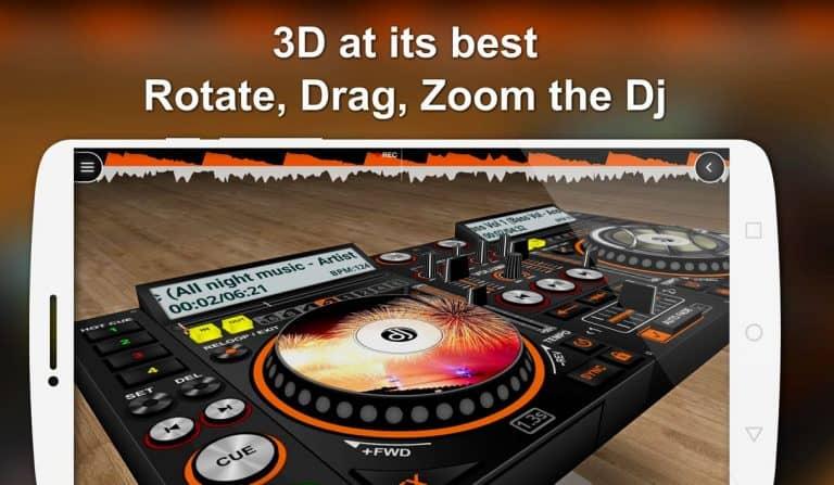 disc dj 3d dj mixing app